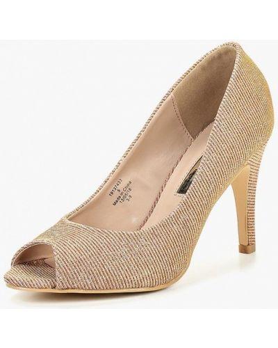 Туфли на каблуке с открытым носком осенние Dorothy Perkins