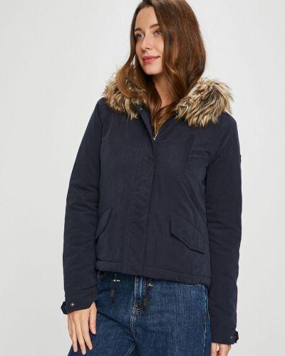 Утепленная куртка с капюшоном укороченная Only