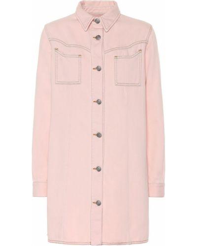 Платье мини розовое джинсовое Ganni