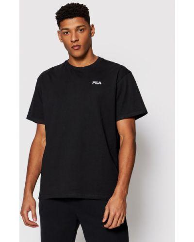 Czarny t-shirt oversize Fila