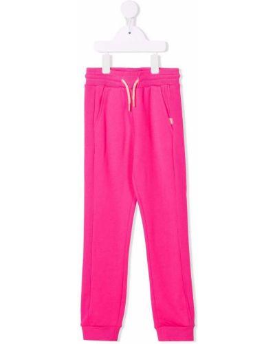 Różowe spodnie bawełniane Billieblush