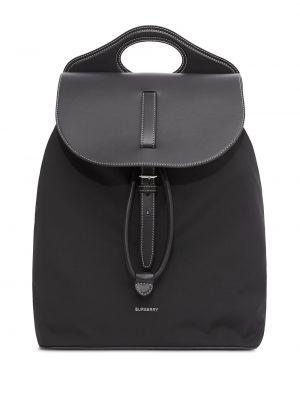 Czarny plecak srebrny Burberry