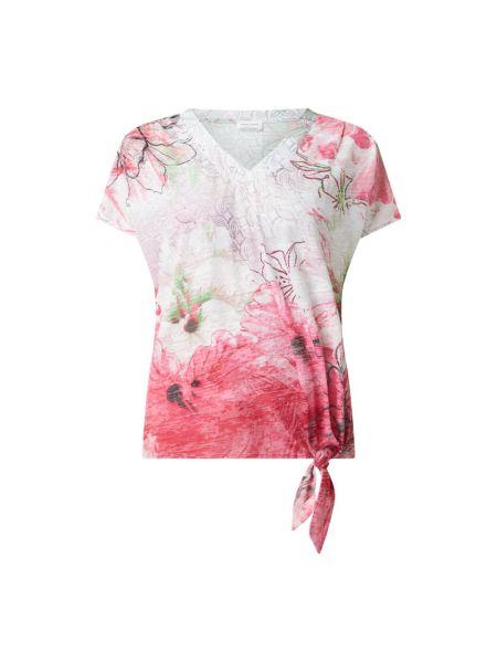 Różowa bluzka z wiskozy z dekoltem w serek Gerry Weber
