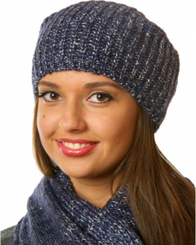 Синяя шапка осенняя Passigatti