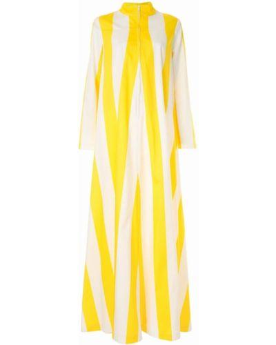 Желтое расклешенное платье макси на молнии By. Bonnie Young