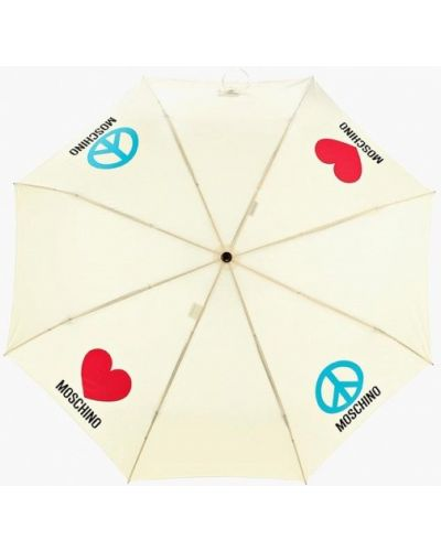 Желтый зонт складной Moschino
