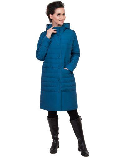 Пальто с капюшоном с воротником-стойкой на кнопках прямое J-splash