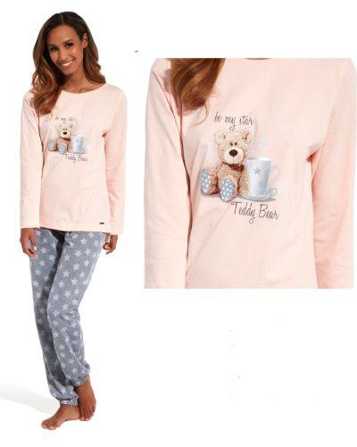 Хлопковые розовые брюки на резинке Cornette