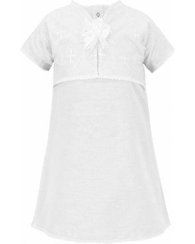 Рубашка белый крестильный чудесные одежки