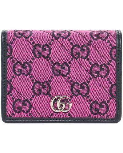 Różowy portfel srebrny Gucci