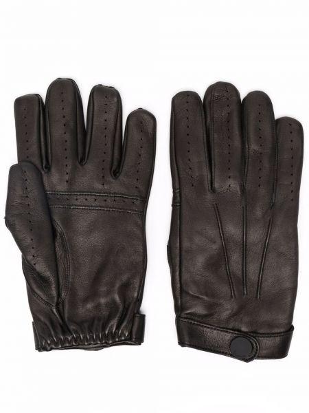 Черные кожаные перчатки Billionaire