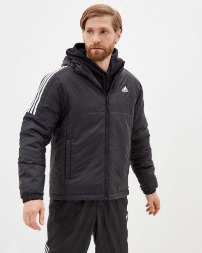 Черная куртка осенняя Adidas