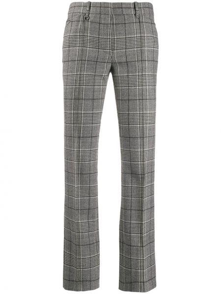 Spodnie wełniane z paskiem z printem Barbara Bui