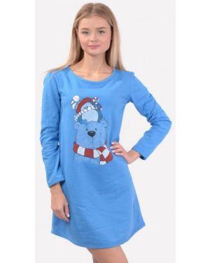 Платье - синее N.el.