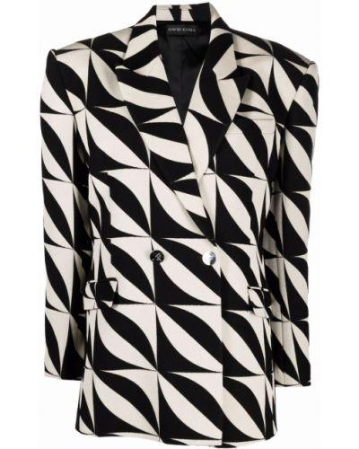 Длинная куртка - белая David Koma
