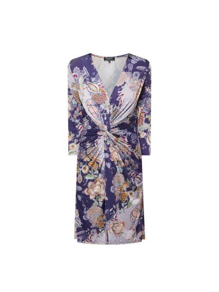 Sukienka z dekoltem w serek - fioletowa Ilse Jacobsen