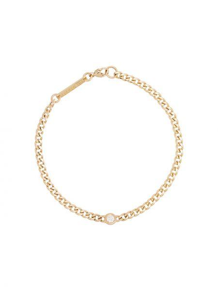 Bransoletka ze złota z diamentem metal Zoë Chicco