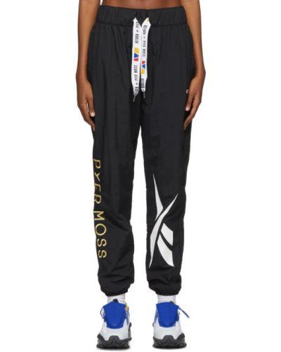 Белые спортивные брюки с вышивкой с манжетами с подкладкой Reebok By Pyer Moss