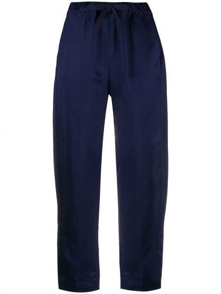 Укороченные брюки с поясом с карманами Semicouture