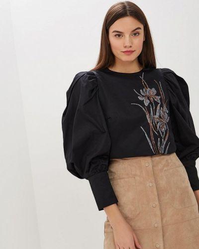Блузка с длинным рукавом черная Zarina