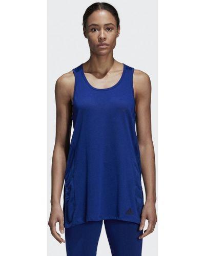 Синяя майка спортивная Adidas