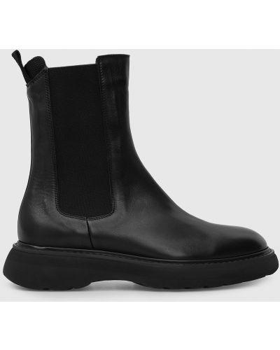 Кожаные ботинки челси - черные Doucal's