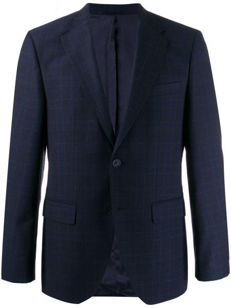 Классический пиджак в клетку прямой Boss Hugo Boss