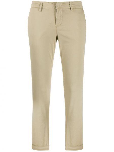 Хлопковые брюки чиносы с карманами на молнии с низкой посадкой Fay