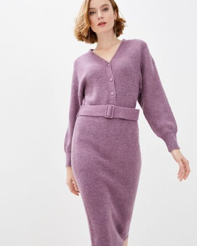 Фиолетовое трикотажное вязаное платье Zarina