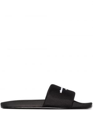 Черные открытые шлепанцы с открытым носком Alexander Wang
