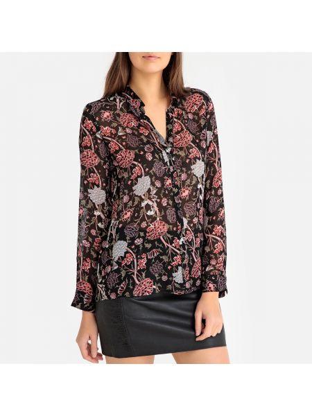 Прямая блузка с длинным рукавом с воротником на пуговицах с рисунком Ikks