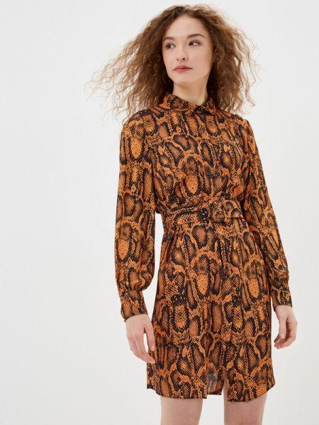 Оранжевое платье Jimmy Sanders