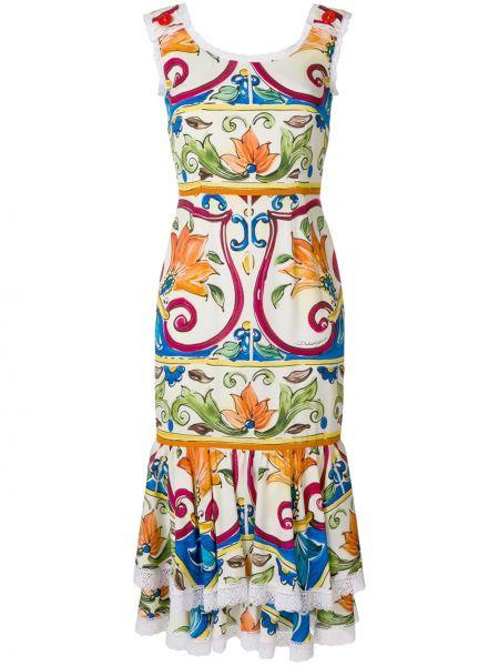 Летнее платье миди на пуговицах Dolce & Gabbana
