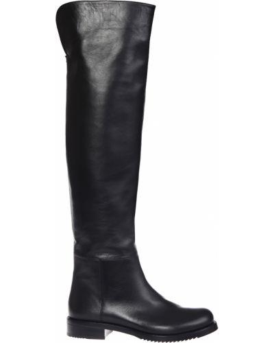 Черные ботфорты кожаные Loriblu