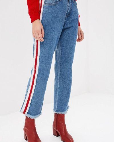 Голубые прямые джинсы Glamorous