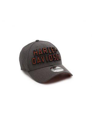 Хлопковая серая бейсболка Harley Davidson