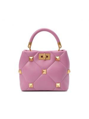 Кожаный топ - розовый Valentino