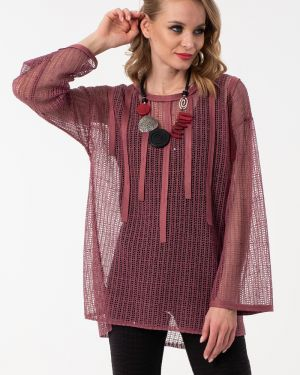 Блузка с пайетками розовая Wisell