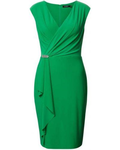 Sukienka koktajlowa - zielona Lauren Ralph Lauren