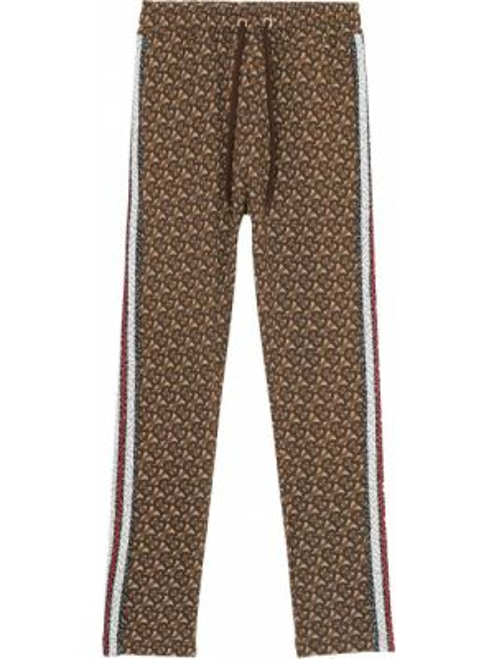 Спортивные хлопковые коричневые спортивные брюки Burberry