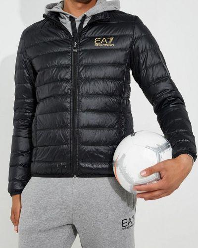 Куртка осенняя черная Ea7