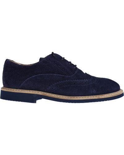Туфли замшевый синие Jacadi Paris