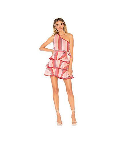 Платье с поясом розовое с бахромой Tularosa