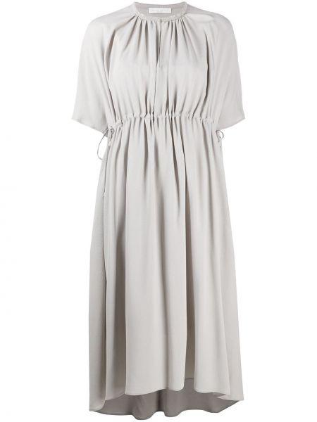 Платье миди шелковое с рукавами Fabiana Filippi