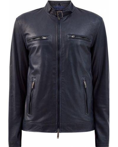 Черная кожаная куртка с подкладкой Etro