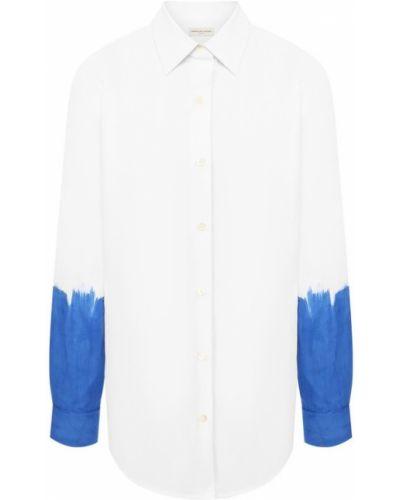 Рубашка синяя Dries Van Noten
