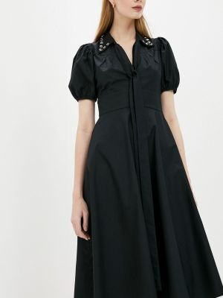 Повседневное платье осеннее черное N21