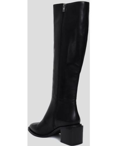Кожаные сапоги - черные Fjolla