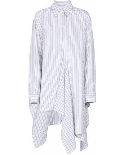 Biała klasyczna koszula w paski z wiskozy Mm6 Maison Margiela
