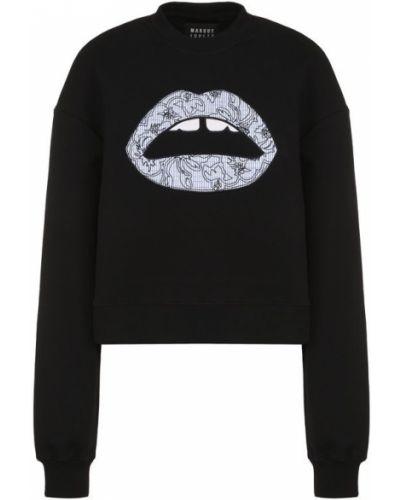 Черный свитер свободного кроя Markus Lupfer
